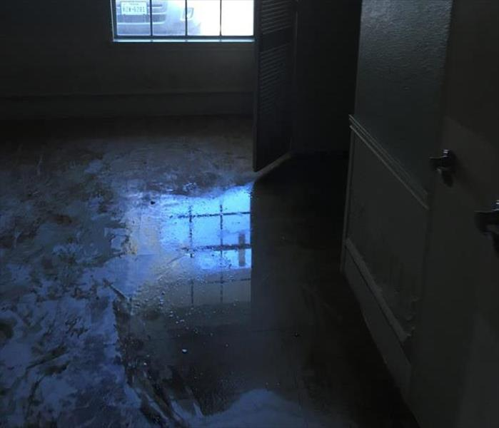 Commercial Water Damage to a Montgomery Building Before