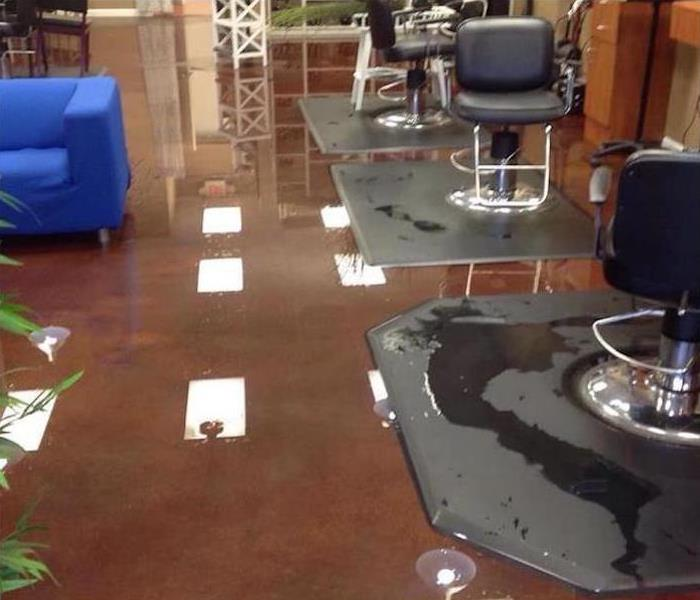 Storm Damage – Montgomery Beauty Salon Before