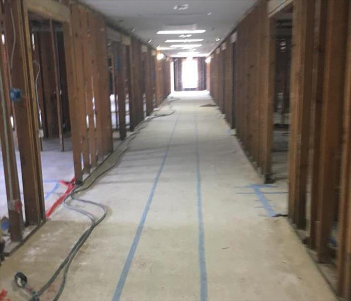 Commercial Water Damage to a Montgomery Building After